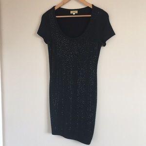 Piko 1988 | T-shirt Dress, Black, Rhinestone Front